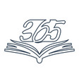 book open 365 infinity logo icon design outline vector image vector image