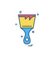 bursh icon design vector image