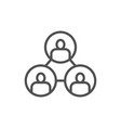 business community teamwork people connection vector image vector image