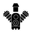 car engine icon black sig vector image vector image