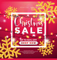 christmas sale design with lights garland and vector image