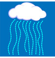 cloud icon cloud with rain vector image