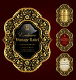 collection of luxury ornamental gold-framed labels vector image