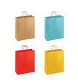colorful paper bag set vector image vector image