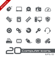 Computer Devices Basics Series vector image vector image