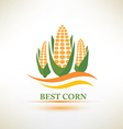 corn symbol vector image vector image