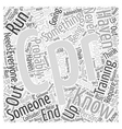 cpr training Word Cloud Concept vector image vector image