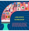 Creative workshop poster template vector image vector image