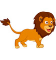 cute lion cartoon stock vector image vector image
