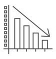 decrease thin line icon reduction and analytics vector image vector image