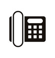digital telephone communication device isolated vector image vector image