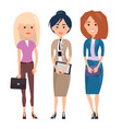 employees ladies collection vector image vector image