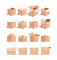 empty carton boxes isometric 3d vector image