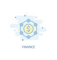 finance line concept simple line icon colored vector image