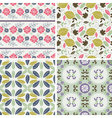 Floral Patterns and seamless backgrounds vector image vector image