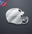 football helmet icon symbol 3D style Trendy modern vector image vector image