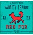 Fox vintage poster vector image vector image