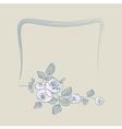 frame flower rose vector image vector image