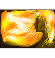 girl with flaming hair vector image vector image