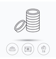 Give money cash money and wallet icons vector image