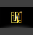 gold black alphabet letter ln l n logo vector image vector image