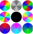 Gradient rainbow circle color palette set vector image vector image