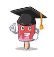 graduation ice cream character cartoon vector image vector image