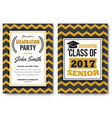 graduation party template invitation vector image vector image