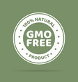 green colored gmo free emblems vector image vector image