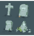 Halloween tombs set vector image