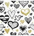 hand drawn valentines day seamless pattern design vector image