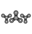 hand spinner logo emblems and icon fidget vector image