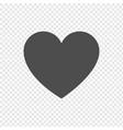 heart icon in flat design on transparent vector image vector image