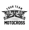 helmet motocross motocross design for t-shirt vector image vector image