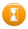 hourglass icon orange vector image
