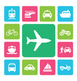 icon set traffic vector image vector image