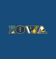 iowa concept word art vector image