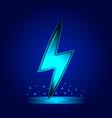 lightning bolt sign electric power symbol vector image