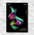 liquid brush poster surreal graphic vector image vector image