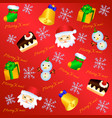 lovely christmas background pattern 1 vector image vector image