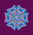 mandala ornament with space for your text vector image vector image