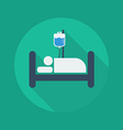 Medical Flat Icon Hospital bed vector image vector image