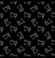 megaphone dark modern seamless pattern vector image