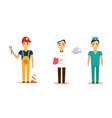 men different professions set waiter doctor vector image