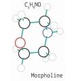 Morpholine C4H9NO molecule vector image
