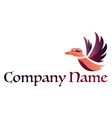 multicolor bird and blank space for text logo on vector image vector image