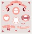 pink love set ornament vector image