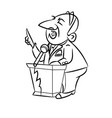 politician cartoon image vector image vector image