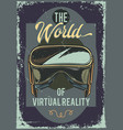 poster design with a vr glasses vector image vector image