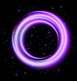 purple light shining circle banner vector image vector image